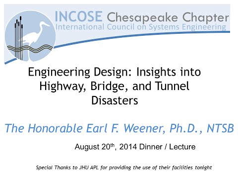 20 Aug, 2014   Engineering Design Insights into Highway Bridge and Tunnel Disasters