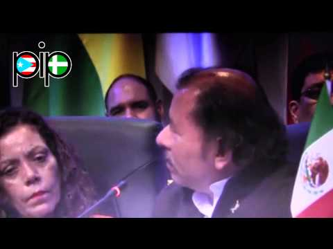 Presidente de Nicaragua  Daniel Ortega en Cumbre de las Américas 2015