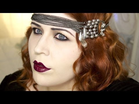 1920's Makeup Tutorial: Great Gatsby Flapper - YouTube