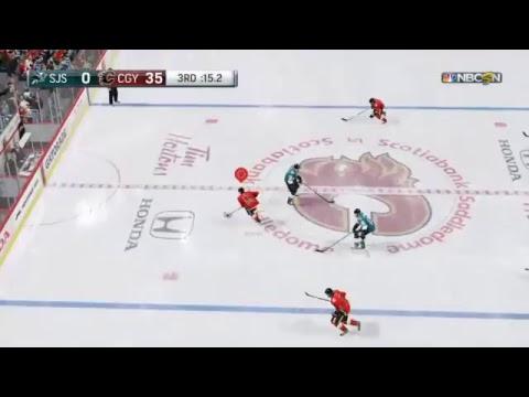 NHL 18 San Jose Sharks VS CALGARY FLAMES