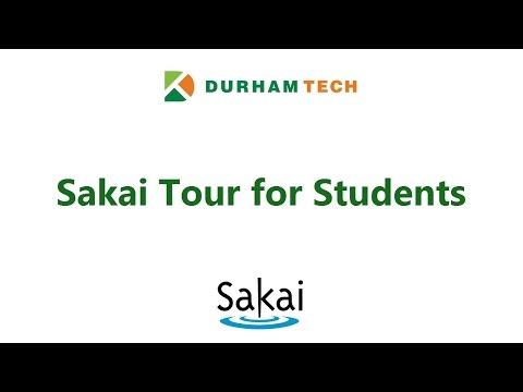 Sakai Tour for Students