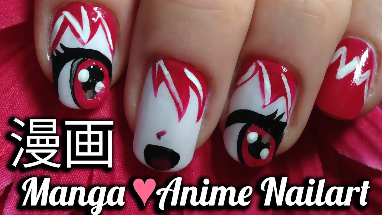 Tutorial: How to do funny manga anime nailart, inspired by Tokyo Mew ...