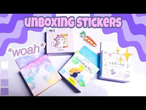 Unboxing stickers/đập hộp nhãn dán từ winzige.vn