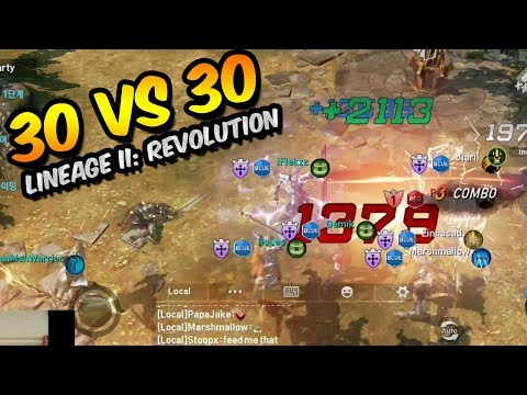 30 vs 30 OPEN SIEGE BATTLE IS CRAZY! | Lineage 2: Revolution (Gameplay, Review)