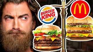 What's The Heaviest Fast Food Burger? (Test)