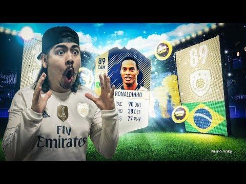 I PACKED RONALDINHO!! 8 GUARANTEED ICON PACKS!! FIFA 18