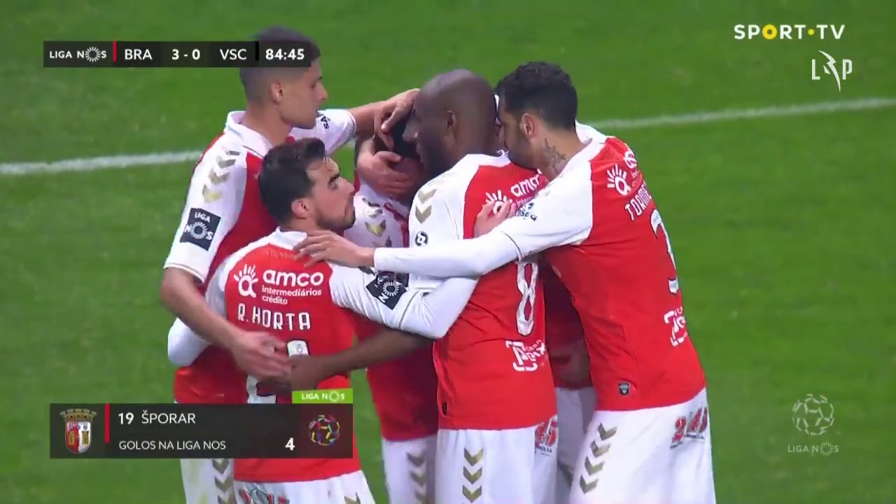 Šporar's first goal for Braga