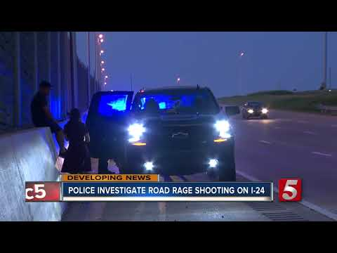 Police investigate road rage shooting on I-24