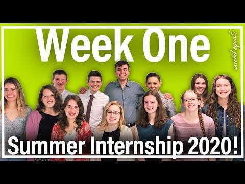 Summer Internship Week One!