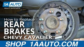 How To Replace Do a Rear Brake Job 2000-05 Chevy Cavalier Pontiac Sunfire
