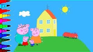 Peppa Pig Coloring Book Pages Rainbow Coloring Compilation Disney Brilliant Color Fun Art