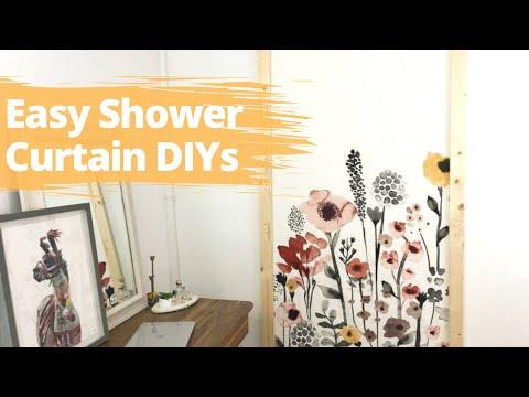 Shower Curtain Decor Ideas   Fake A High End Look With A Shower Curtain!   Hometalk