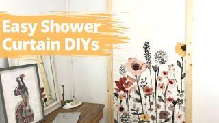 Shower Curtain Decor Ideas | Fake a high end look with a shower curtain! | Hometalk