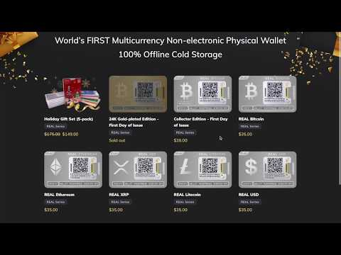 Ballet Crypto Cold Storage Wallet - BTC, ETH, XRP, LTC, USD [PHYSICAL BITCOIN REVEALED]