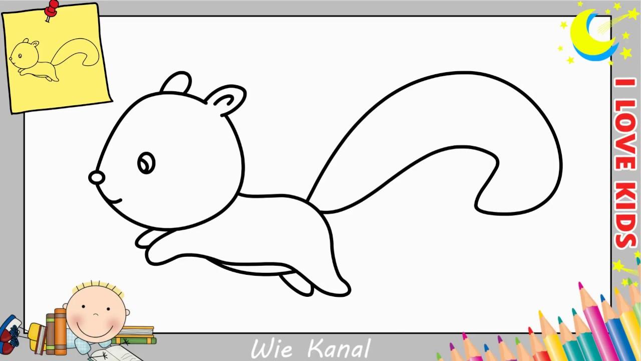 Eichhörnchen zeichnen lernen einfach schritt für schritt ...