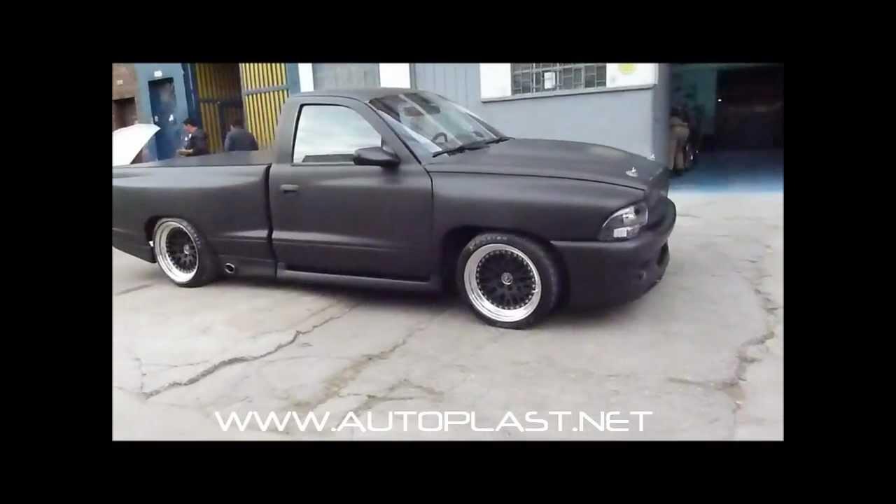 Dodge Dakota 2012 >> AutoPlast.net - DODGE DAKOTA Forrado Completo Adhesivo 3M MATTE BLACK 1080-M12 - YouTube