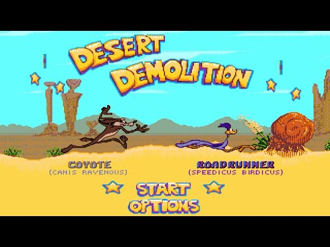 Desert Demolition Coyote прохождение Sega Mega Drive