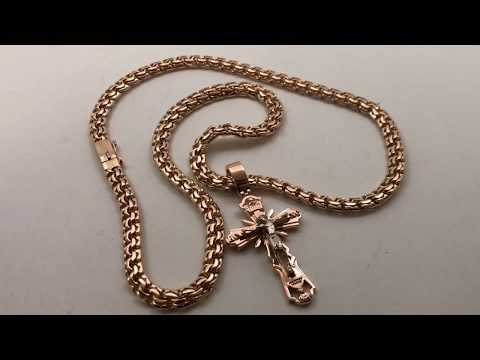 Золотая цепочка БИСМАРК с православным крестом. Gold Bismark/ Ювелирные украшения из золота
