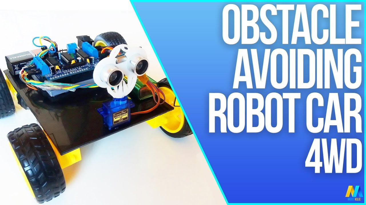 Obstacle avoiding robot wd with source code arduino