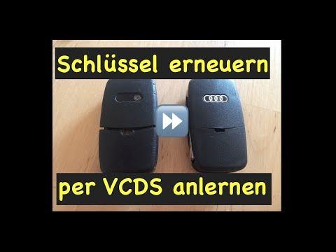 Funkschlüssel umbauen ⏩ WFS anlernen ⏩ Batterie wechseln ⏩ Audi A4 B5 B6