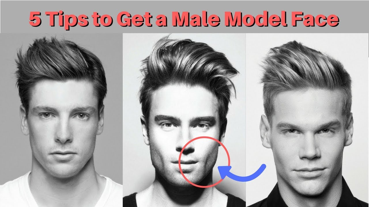 12 Tips to Get a Male Model Face - YouTube