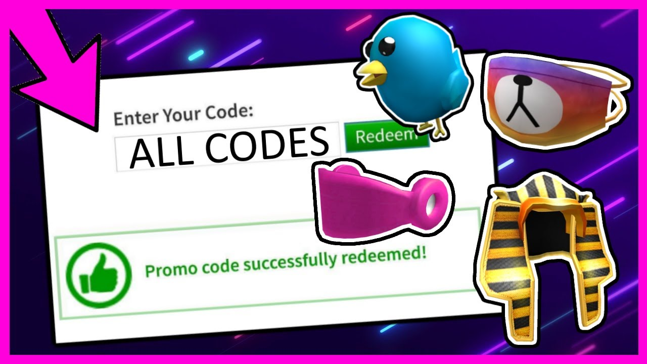 ALL ROBLOX PROMOCODES (2014 2021) YouTube