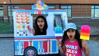 Kids Pretend Play with Ice cream truck!! fun toys video