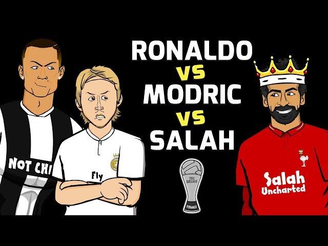 🏆RONALDO vs MODRIC vs SALAH🏆 The Best 2018! (Football Challenges)