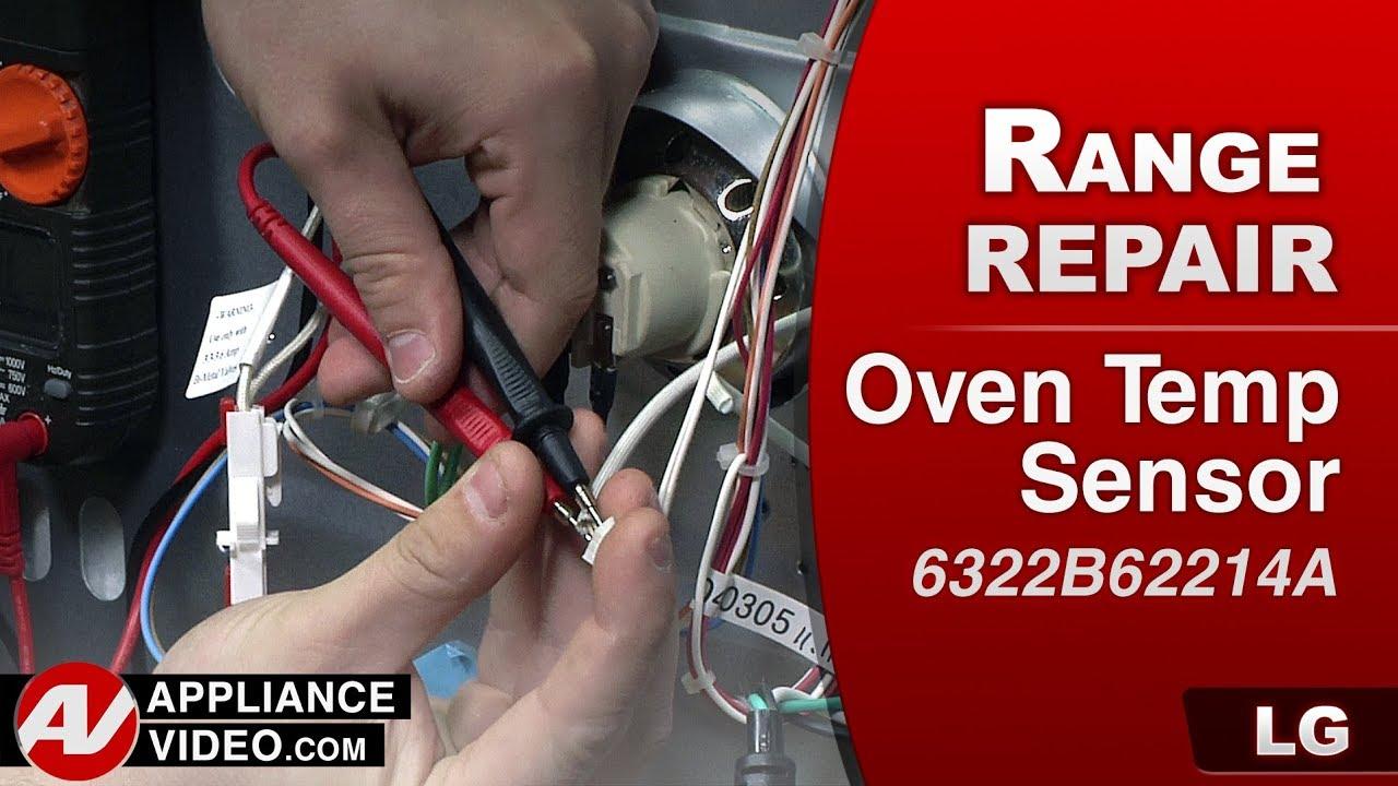 LG Rang & Oven - Oven wont reach temperature - Oven Temp Sensor -  Diagnostic & Repair