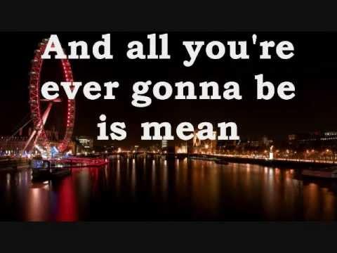 Mean - Taylor Swift lyrics