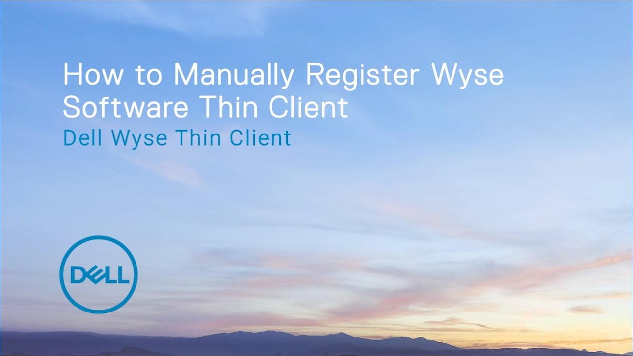 Registering Wyse Software Thin Client to Wyse Management Suite