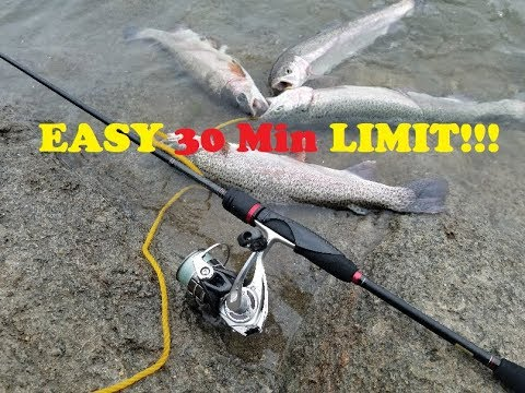 Lake Poway 30 Minute TROUT Limit!!!!!!