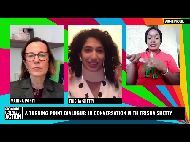 A Turning Point Dialogue: In Conversation with Trisha Shetty (French)