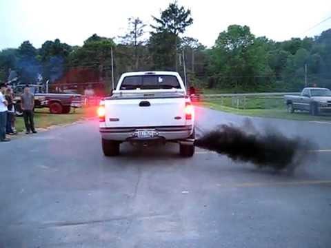 ford diesel trucks blowing black smoke