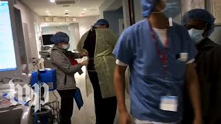 The night shift inside a New York City hospital's covid-19 unit