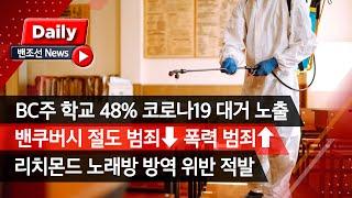 [밴조선영상뉴스] ✔ BC 학교 49% 코로나 대거 노…