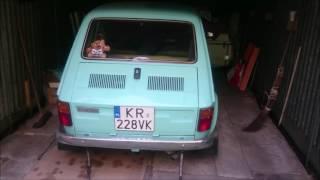 Polski Fiat 126p 1977r start engine 2 months