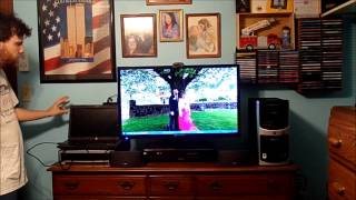 how to connect a hp laptop computer to a 32 inch television