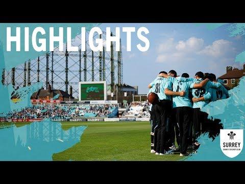 Highlights: Surrey v Kent - Vitality Blast