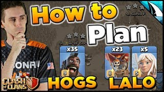 How To Plan The Best War Attacks - Sui Hogs & Queen Charge Lalo | Clash of Clans