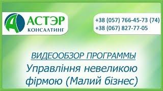Видеообзор программы: Управління невеликою фірмою (УНФ)