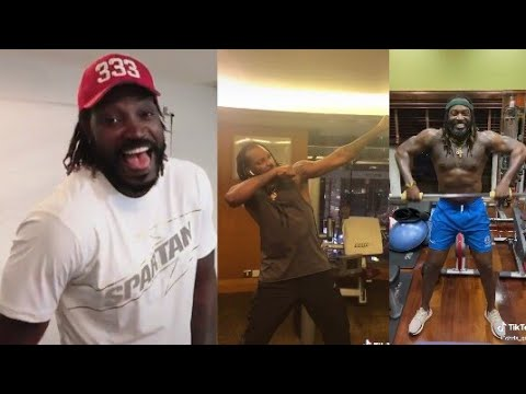 Chris Gayle Tik Tok Video Funny Type Chris Gayle Tik Tok Gym Video