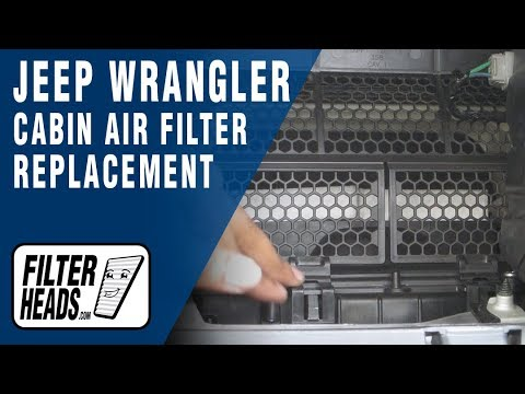 How To Replace Cabin Air Filter Jeep Wrangler Youtube