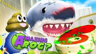 FLYING MEGALODON & ZOMBIE STEAK  - Amazing Frog Gameplay (New Amazing Frog Update)