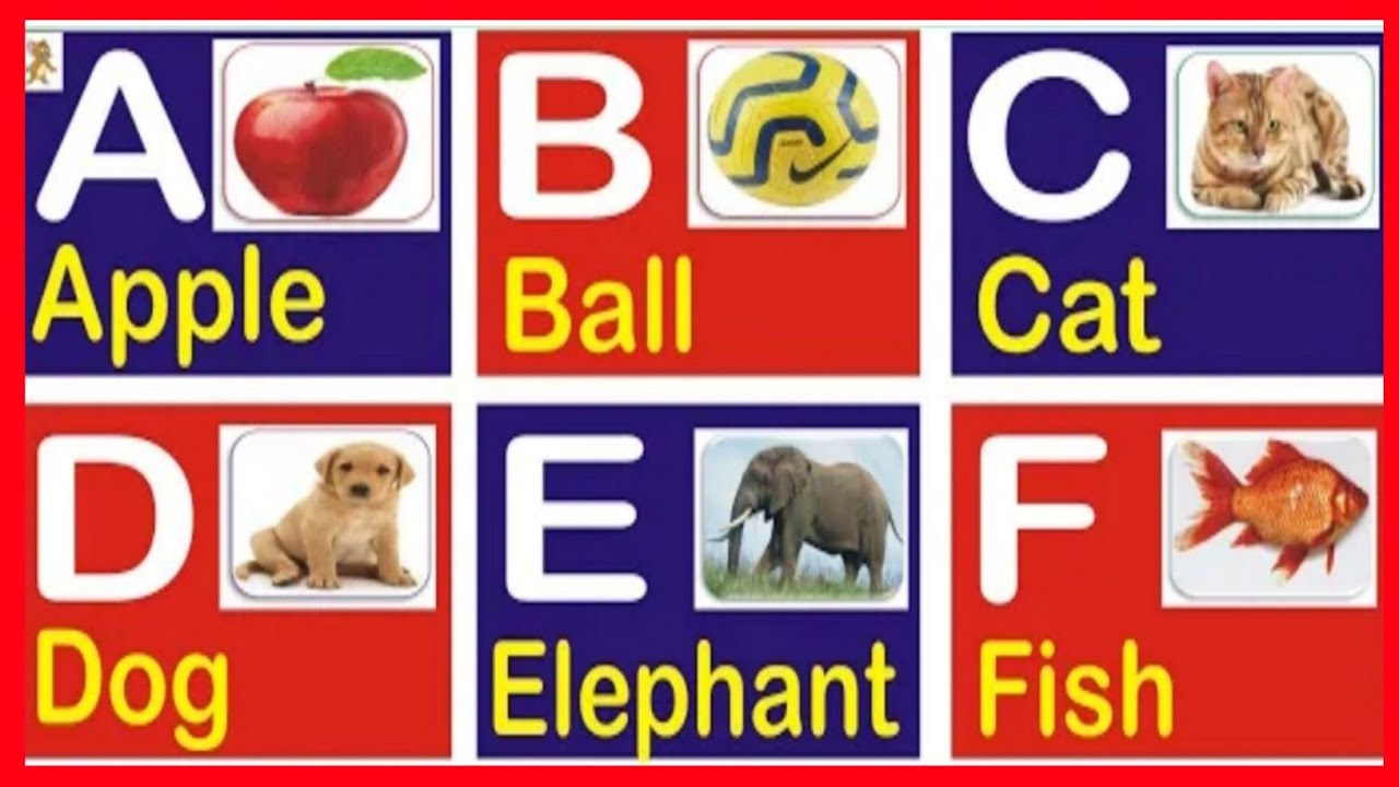 A for apple b for ball,abcd,Nursery rhymes,phonics sounds with image,ABC,part250