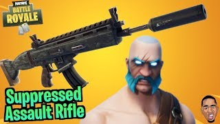 Suppressed Assault Rifle IS FIRE!! Fortnite Battle Royale