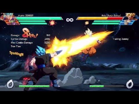 DBFZ - Vegito Solo Combos (4.7K - 8.6K damage)