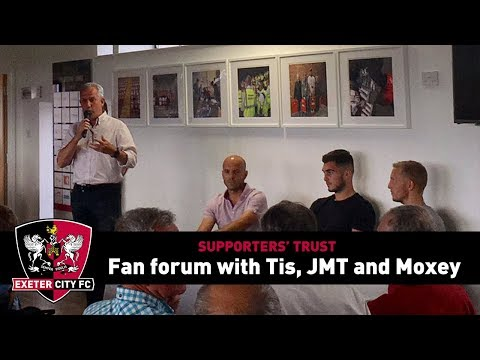 Supporters' Trust Fans' Forum with Tis, JMT and Moxey - August 1 | Exeter City Football Club
