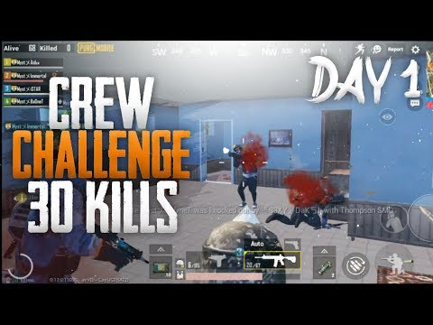 CREW CHALLENGE 2019 DAY 1 HIGHLIGHTS | 30 KILLS | PUBG MOBILE | TEAM MYST |