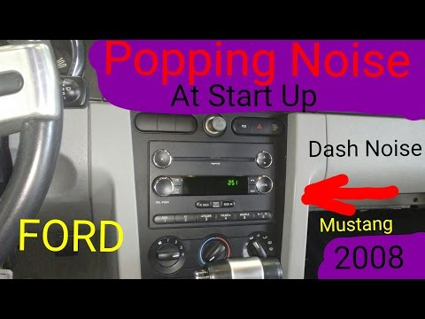 2008 Mustang Dash Popping Noise Solved